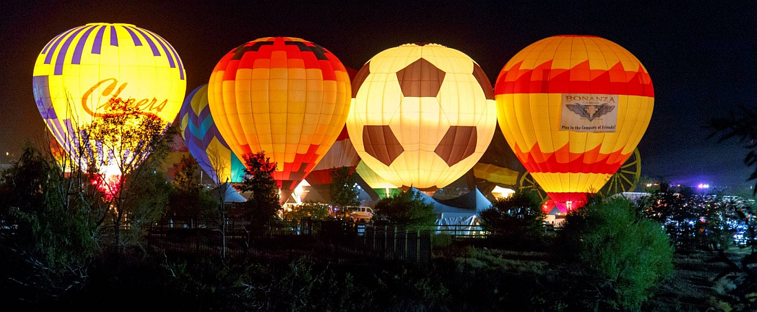 Cheers Aerial Media - Hot Air Balloon Night Glow Tether
